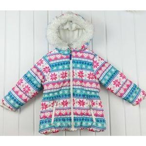 Carter's Fleece Lined Fair Isle Winter Coat 4T